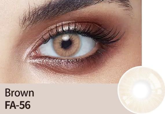 hazel brown eye lens
