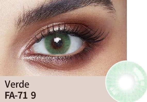 verde colour lens
