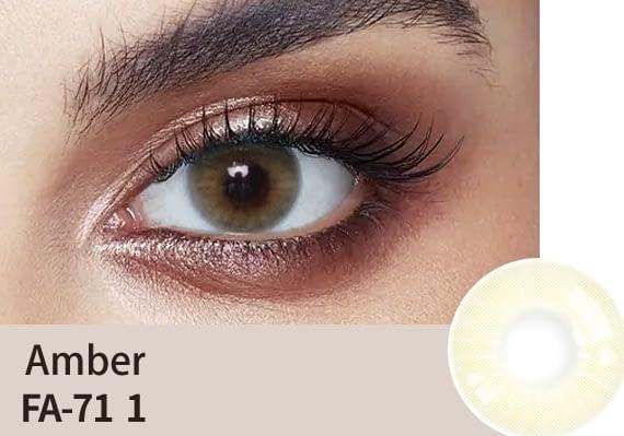 amber colour lens