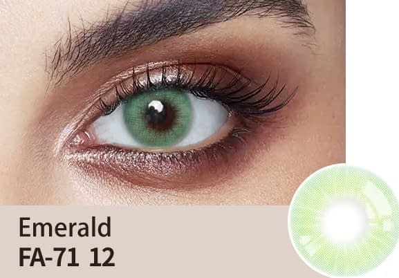 emerald colour lens