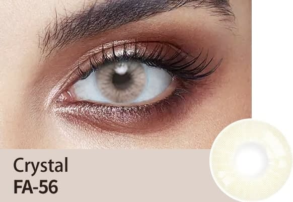 crystal grey colour lens