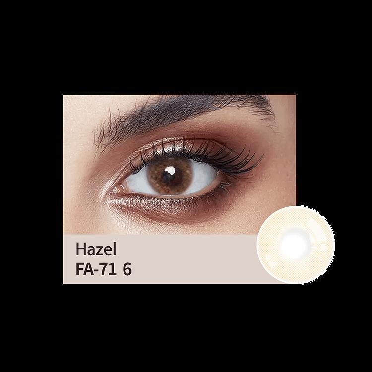 hazel colour lens